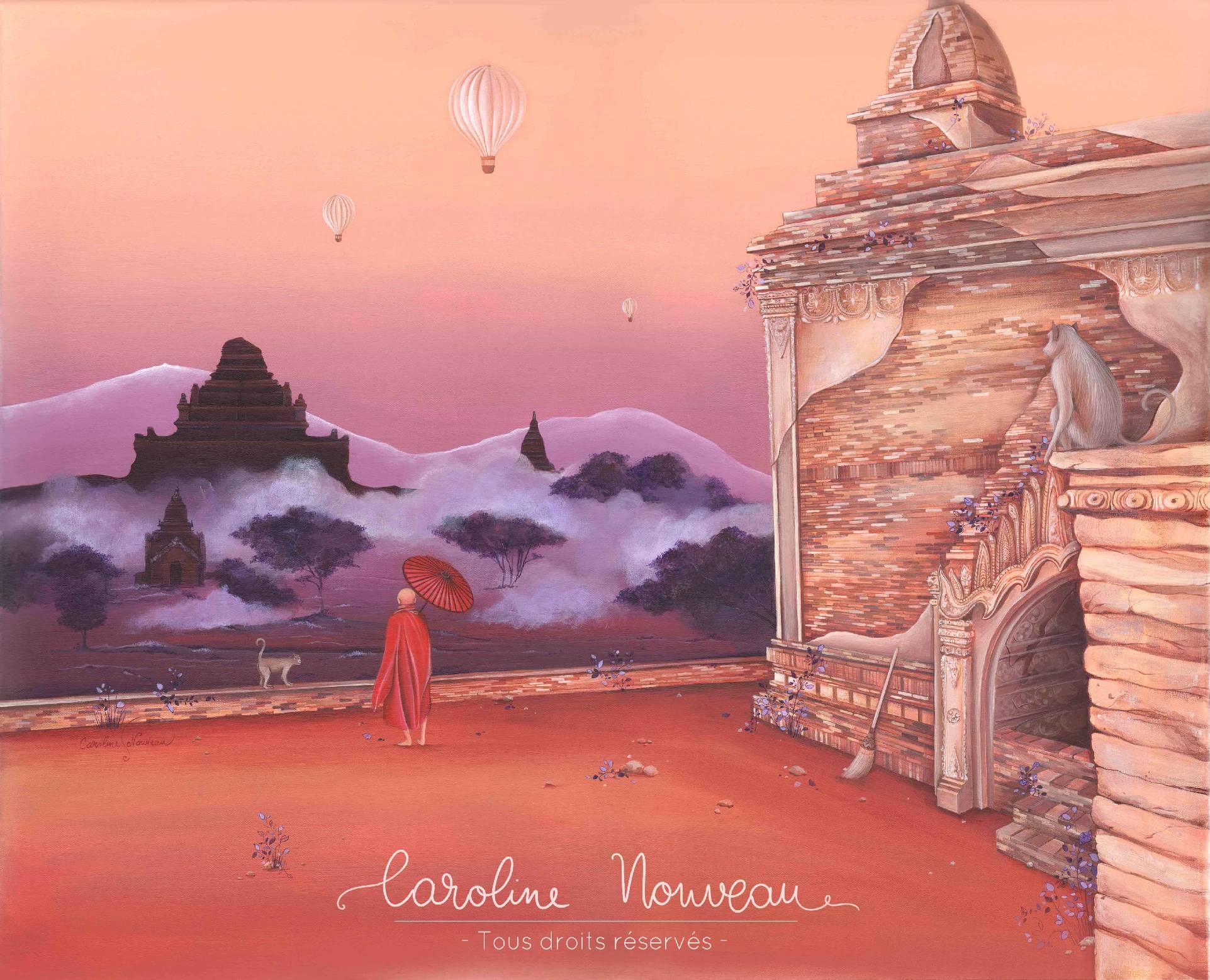 """""""Souvenir birman"""" Acrylique sur toile - 61*50cm - 2020 - Disponible 480€"""