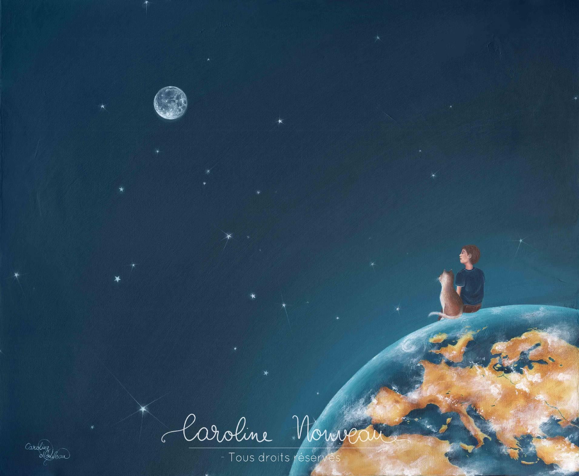 """""""Par un ciel étoilé..."""" Acrylique sur toile - 46*38cm - 2016 - Non disponible"""