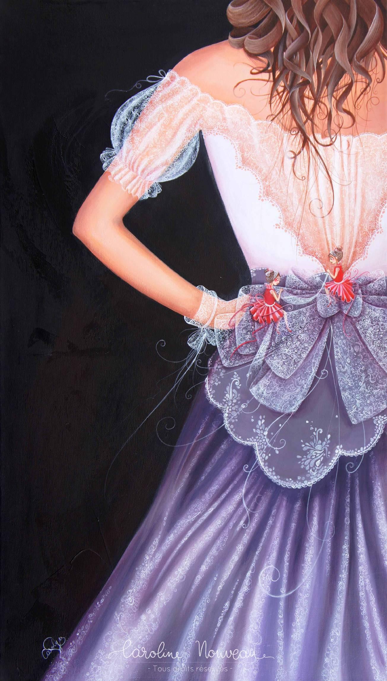 """""""De mains de fées"""" - Acrylique sur toile - 40*70cm - 2012/2013 - Non disponible"""