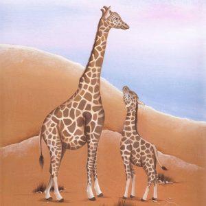 Œuvre originale – Les girafes