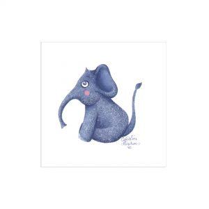 Illustration «Éléphanteau violet»