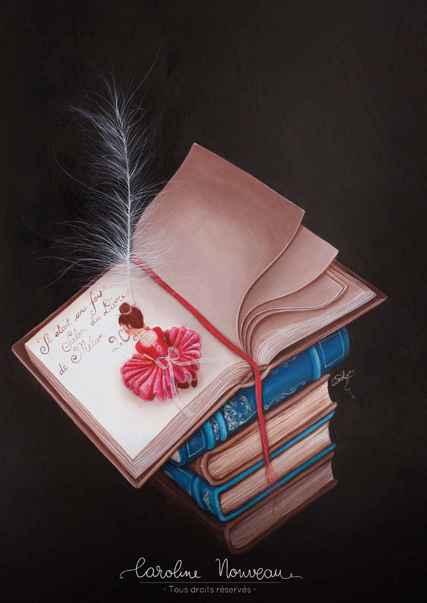 """""""Le livre"""" Acrylique sur papier - 48*36cm - 2012 - Disponible 300€"""
