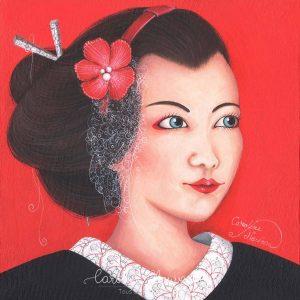 Œuvre originale – Portrait de Maïko