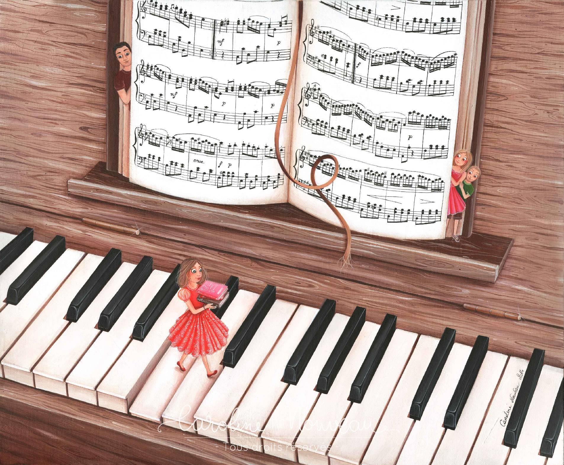 """""""La Marche musicale"""" Acrylique sur toile- 46*38cm - 2014 - Non disponible"""