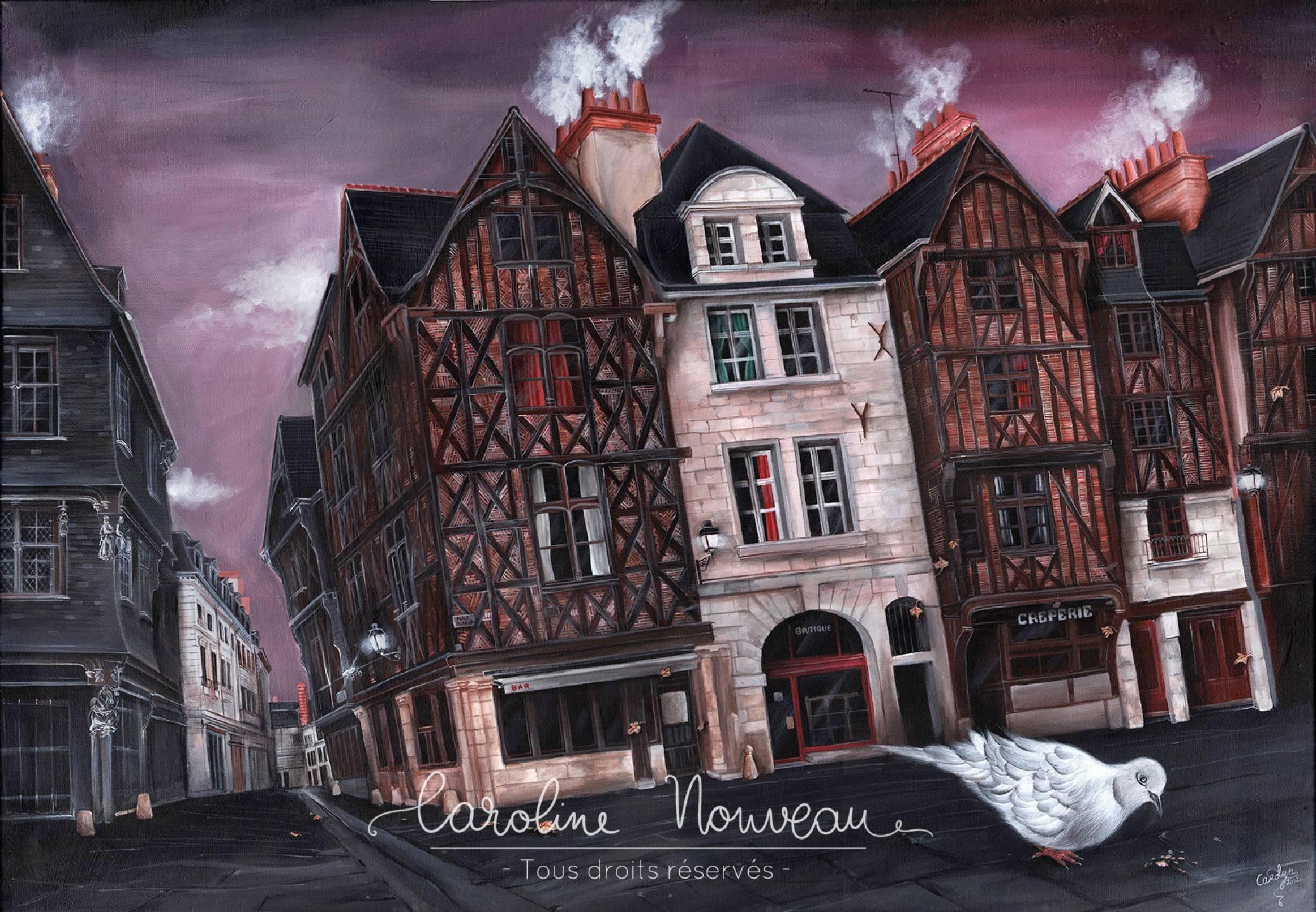 """""""Place Plumereau"""" Acrylique sur toile - 116*81cm - 2012 - Disponible 1600€"""