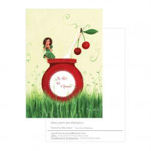 Carte «Mon petit pot d'amour»