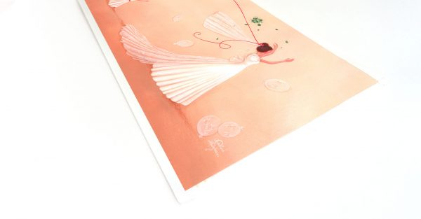 illustration mariage mariee bouquet fleurs fille
