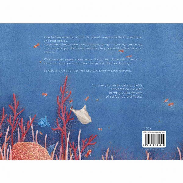 livre enfants ocean environnement baleine corail dechets poissons quatrieme couverture