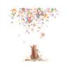 illustration dessin peinture ecureuil saison automne feuilles