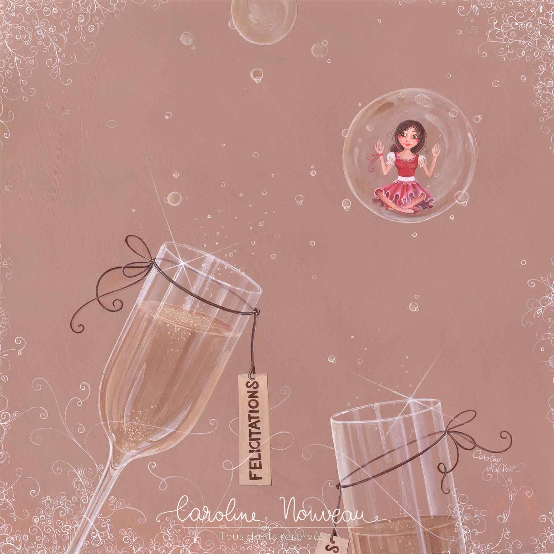 """""""Félicitations"""" Acrylique sur papier - 30,5*30,5cm - 2013 - Disponible 150€"""