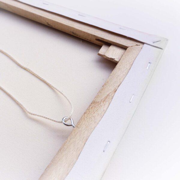 chassis bois toile piton corde accroche