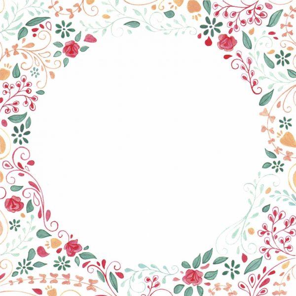 dessin peinture decor fleurs nature naissance
