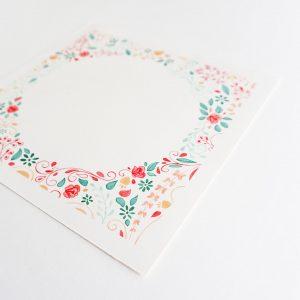 Œuvre originale – Décor fleuri