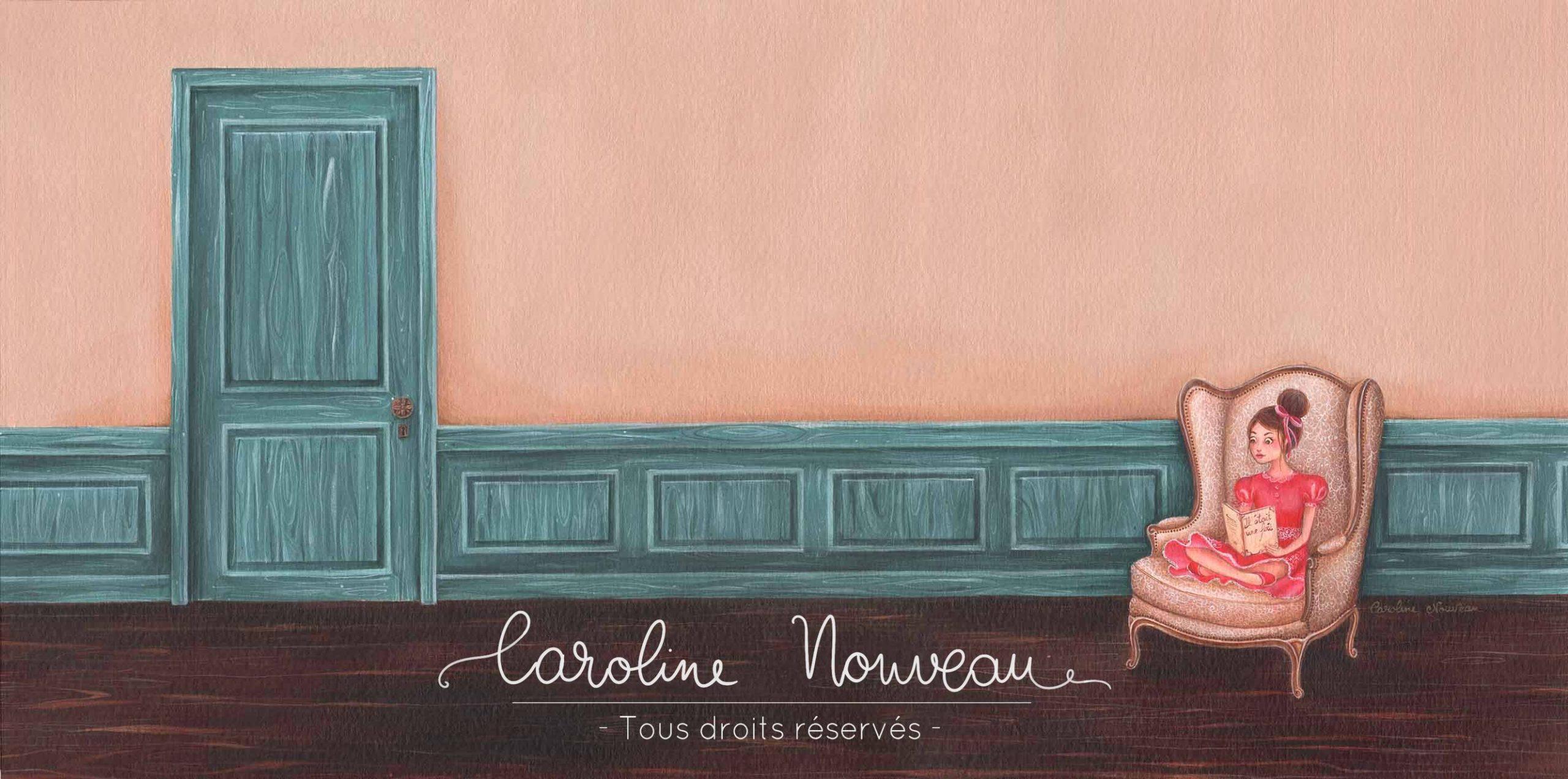 """""""Lecture du soir"""" Acrylique sur papier - 45*22,5cm - 2015 - Disponible 120€"""