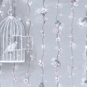 Œuvre originale – Cage à oiseaux