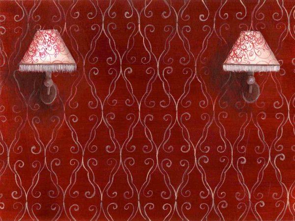 dessin peinture illustration lampes lumiere papier peint motifs decor decoration appliques