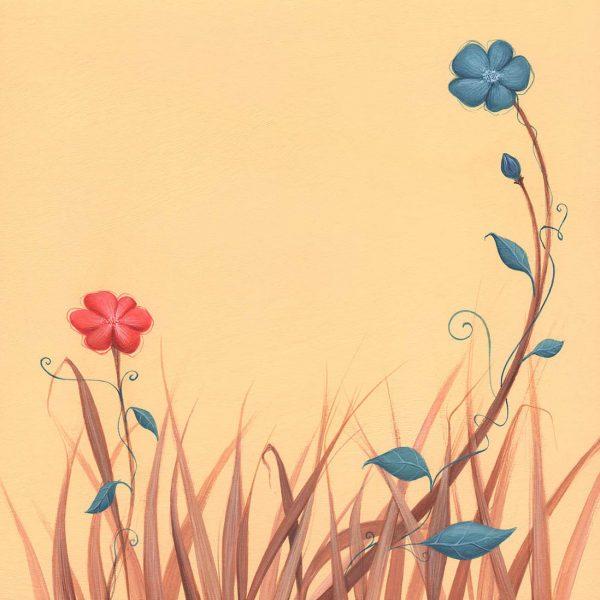 illustration dessin peinture naissance enfant nature feuilles