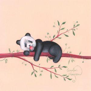 Œuvre originale – Panda curieux