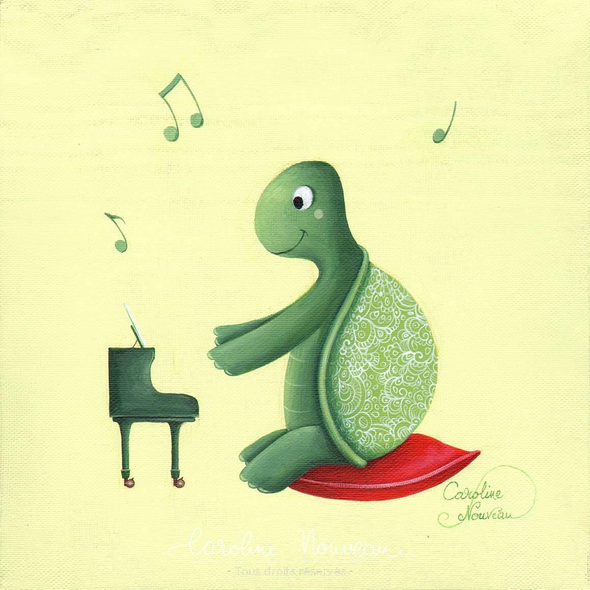 """""""Sonate pour carapace"""" Acrylique sur toile - 20*20cm - 2019 - Non disponible"""