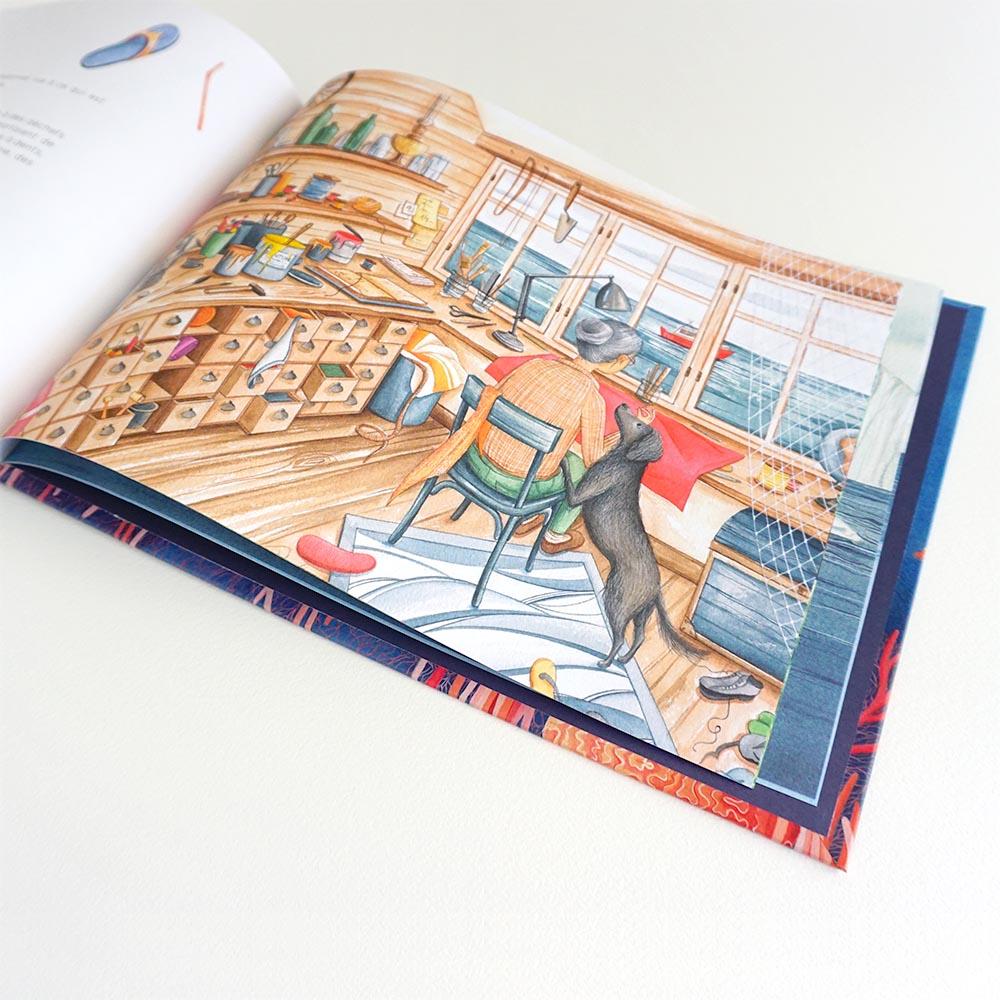 dessin livre enfants ocean dechets atelier